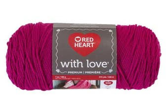 (Solid, Solid - Hot Pink) - Red Heart With Love Yarn