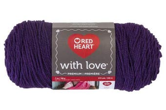 (Solid, Solid - Aubergine) - Red Heart With Love Yarn
