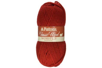 (Bright Red) - Patons Classic Wool Yarn