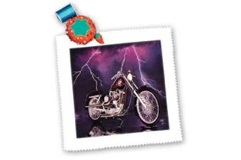 (15cm  x 15cm  quilt square) - Quilt Square Picturing Harley-Davidson® Motorcycle