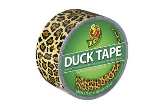 (Spotted Leopard) - Duck Brand 1379347 Spotted Leopard Printed Duct Tape, Black/Yellow, 4.8cm by 10 Yards, Single Roll