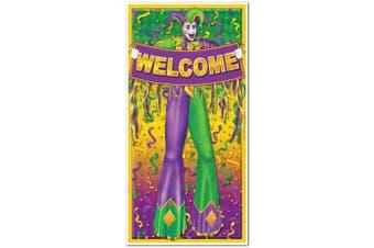 Beistle 57320 Mardi Gras Door Cover, 80cm by 5-Feet
