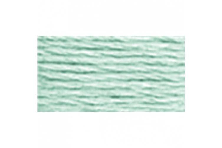 DMC 117-504 Six Stranded Cotton Embroidery Floss, Light Blue Green, 8.7-Yard
