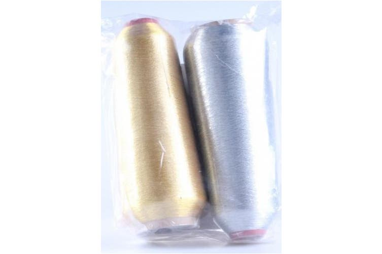 (Gold and Silver) - New Threadsrus Gold & Silver Metallic Machine Embroidery Threads - 10000 yards