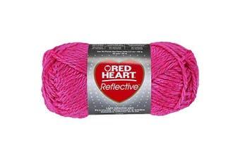 (Pink) - Red Heart Reflective Yarn
