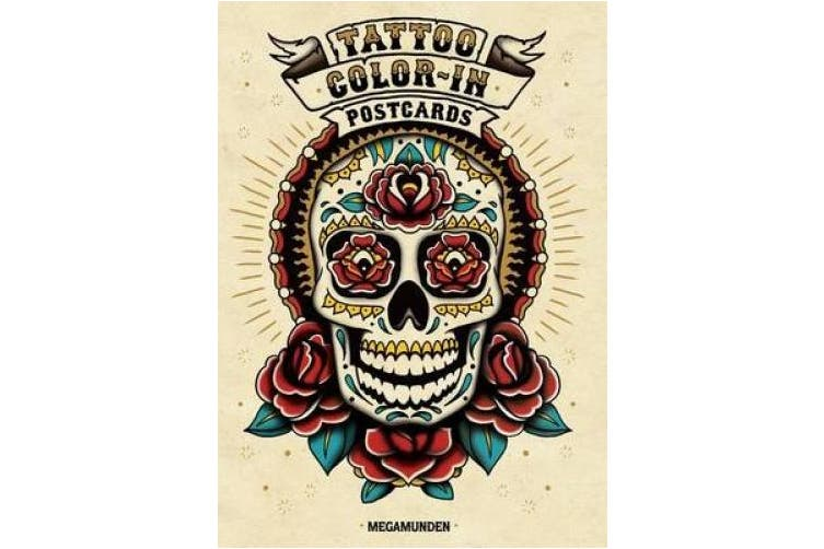 Tattoo Colour-In Postcards