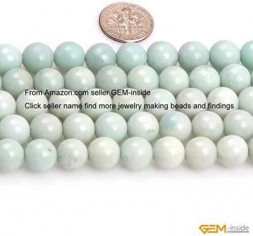 GEM-inside ite Gemstone Loose Beads Natural Energy Power Beads for Jewelry Making 10mm Round 15 Inches