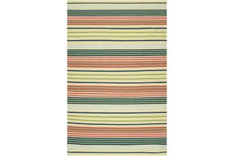 (2-Feet x 3-Feet & Multi-colored) - Surya HC-5813 Country Living Happy Cottage Striped Flat Weave Hand Made Area Rug, 0.6m by 0.9m, Pear
