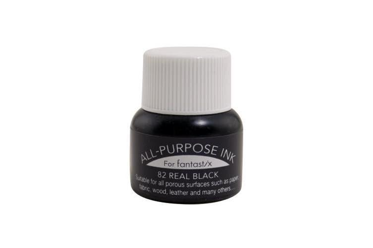 Tsukineko 0.5-Fluid-Ounce All Purpose Ink, Real Black