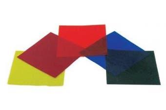 Colour filter s Gelatin - Set of Five Colours 10cm x 10cm Sheets
