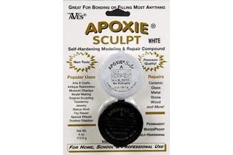 (0.1kg, White) - Apoxie Sculpt 0.1kg. White, 2 Part Modelling Compound (A & B)