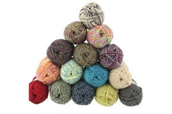 (2, Lake Front) - Chunky Melody Medium Weight Yarn - Lake Front - 70% Wool 30% Polyester Blend - 100g/skein