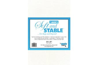 ByAnnie's Soft and Stable Fabric, 46cm by 150cm , White