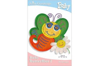 Anita Goodesign Embroidery Cd Baby Butterflies #2