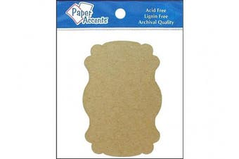 AD Paper Chipboard Shapes 8pc Marquee Natural