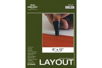 (36cm  by 43cm ) - Pro Art Layout Marker Paper Pad