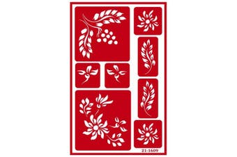 (144, classic) - Armour Etch Over N Over Stencil Berry Floral