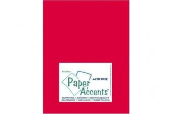 Accent Design Paper Accents ADPaperLinen8.5x11RedPepper Cdstk Linen 8.5x11 74# Red Pepper