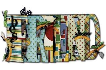 Bo Bunny 15cm by 30cm My Word Chipboard Album, Friend