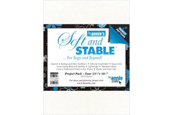 Annie S & S20PPW Soft and Stable Project Pack, 34cm by 47cm , White, 4 Per Package