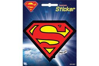 """Ata-Boy DC Comics Superman Logo 4"""" Full Color Sticker"""