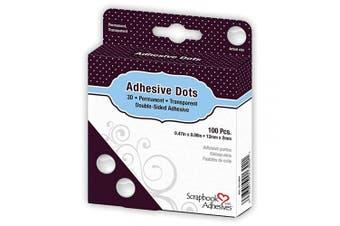 (3D) - Dodz Adhesive Dot Rolls-3D .1590cm X.13cm 100/Pkg