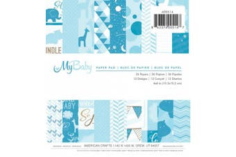 American Crafts 36 Sheets Imaginisce My Baby Paper Pad, 15cm by 15cm , Boy