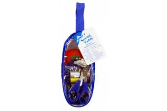 Allary Deluxe Sewing Kit in Zipper Pouch with 14cm Scissors, Various Colours
