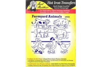 Farm Animals Aunt Martha's Hot Iron Cross Stitch Embroidery Transfer