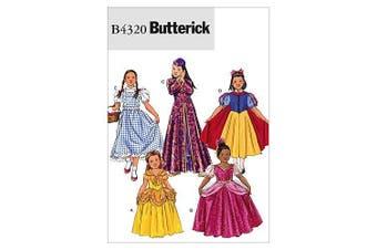 (GIRL (7) (8-10) (12-14)) - Butterick Patterns B4320 Children's/Girls' Costume, Size GIRL (7) (8-10) (12-14)