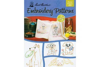 (Puppies) - Aunt Martha's Playful Puppies Embroidery Transfer Pattern Book Kit