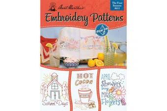 (Seasons) - Aunt Martha's 411 Four Seasons Embroidery Transfer Pattern Book Kit