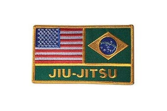 USA America / Brazil Jiu-Jitsu Flags Patch