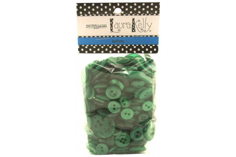 (Forest Green) - Buttons Galore Hand Dyed Buttons, 160ml, Forest Green
