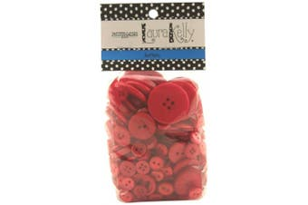 Buttons Galore Hand Dyed Buttons, 160ml, Radically Red