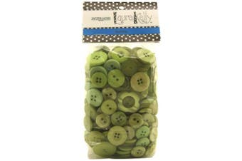 (1, Apple Green) - Buttons Galore Hand Dyed Buttons, 160ml, Apple Green