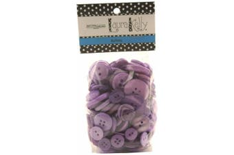 Buttons Galore Hand Dyed Buttons, 160ml, Luscious Lavender