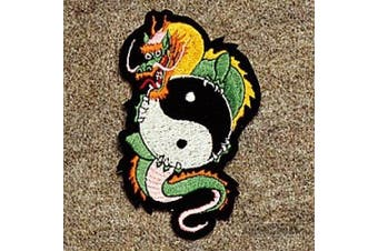 Patch -Dragon/yin & Yang Patch (Measures 10cm - 1.3cm )