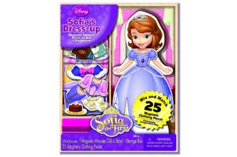 Artistic Studios Disney Sofia The First Wooden Magnetic Playset, 25-Piece