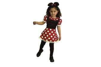 (gold, xs) - Little Miss Minnie Mouse Toddler Costume