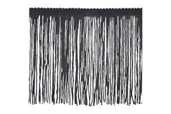 Chainette Fringe P-7044 100-Percent Polyester 10cm Fringe Embellishment, 10-Yard, 02 Black