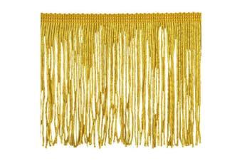 Chainette Fringe P-7044 100-Percent Polyester 10cm Fringe Embellishment, 10-Yard, 10 Gold