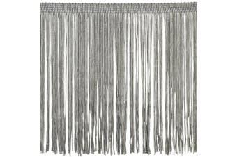 Chainette Fringe P-7045 100-Percent Polyester 15cm Fringe Embellishment, 10-Yard, 11 Silver
