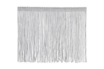Chainette Fringe P-7045 100-Percent Polyester 15cm Fringe Embellishment, 10-Yard, 27 White