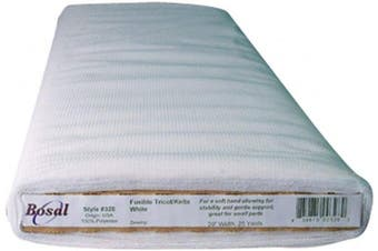 (White) - Bosal Fusible Tricot / Knits Interfacing (50cm x 25 Yards) - in your choice of colours