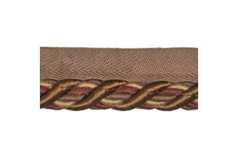 1.3cm Cord with Lip on 25-Yard Roll, Burgundy and Gold