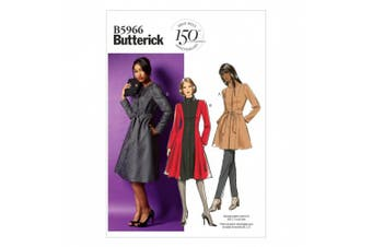 (8-10-12-14-16) - Butterick Patterns B5966 Misses'/Women's Jacket, Coat and Belt Sewing Templates, Size B5 (8-10-12-14-16)