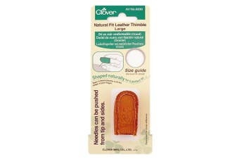 (Large) - Clover Natural Fit Leather Thimble