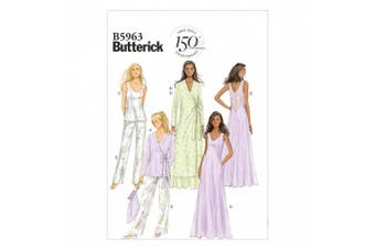 (14-16-18-20-22) - Butterick Patterns B5963 Misses' Robe, Top, Gown, Pants and Bag Sewing Templates, Size E5 (14-16-18-20-22)