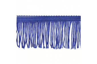 Chainette Fringe 10-Yard Polyester Fringe Rolls for Arts and Crafts, 5.1cm Long, Navy